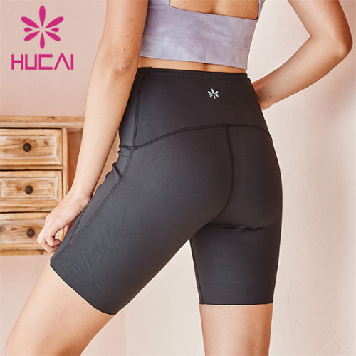 High Waist Solid Color Cycling Shorts Custom Wholesale