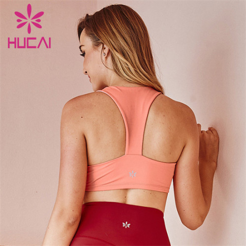 Customized Wholesale Solid Color Sports Yoga Bra