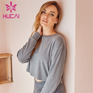 Custom Solid Color Loose Long Sleeve Sweatshirt