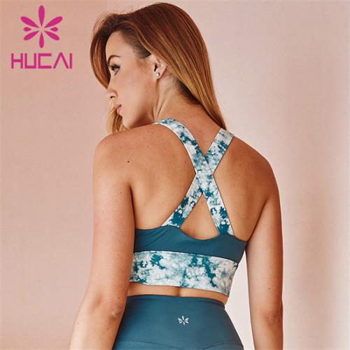 Custom Printed Stitching Sports Fitness Bra