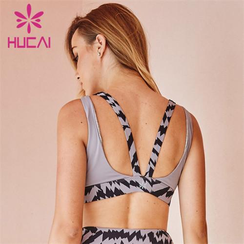 Customized Wholesaler Of Printed Stitching Fitness Bra