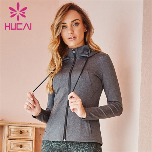 Long Sleeve Solid Color Sports Jacket Wholesale Manufacturer