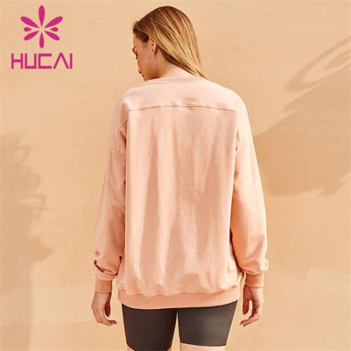 Pure Color Long Sleeve Sweatshirt Custom Wholesale