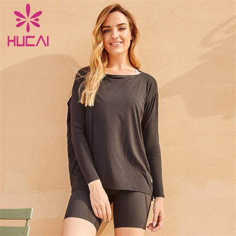 Custom Wholesale Black Loose Sports T-shirt