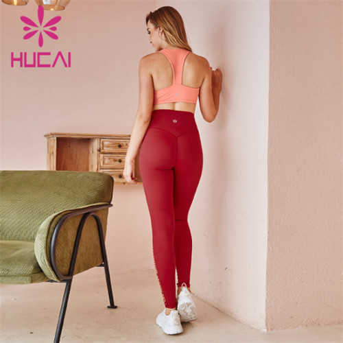 Pink Sports Bra And Leggings Set Customization