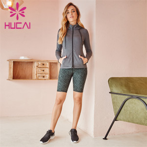 Sports Jackets And Printed Cycling Shorts Suit Wholesale