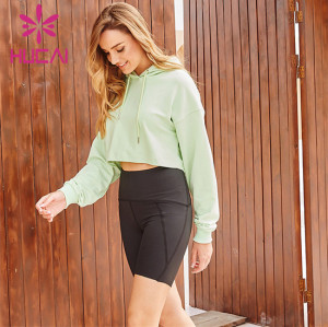 Hooded Sweatshirt And Cycling Shorts Suit Wholesale