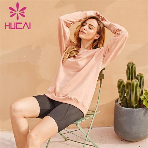 Long Sleeve Sweatshirt And Cycling Shorts Suit Customization