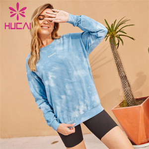 Printed Sweatshirt And Cycling Shorts Suit Customization