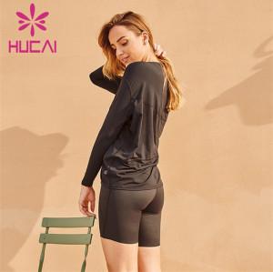 Wholesale Loose Sweatshirts And Cycling Shorts Suits