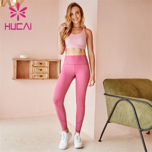 Pure Color Sports Bra And Leggings Suit Supplier