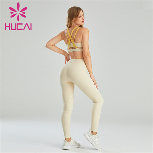 Sexy Contrast Sports Bra And Leggings Suit Customization