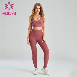Sexy Sports Bra And High Waist Hip Leggings Wholesale