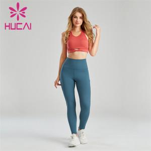 Folding Sports Bra And High Waist Leggings Suit Supplier