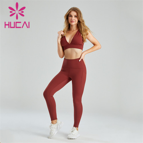 Custom Sexy Deep V Bra And Hip-lifting Leggings Set