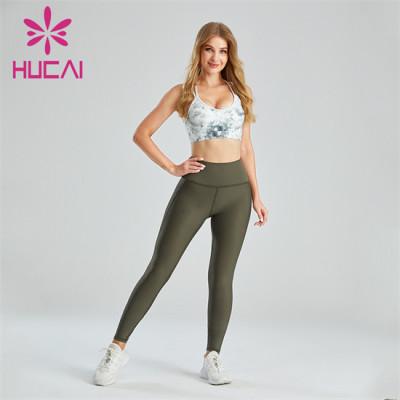 Digital Printed Sports Bra And Yoga Pants Suit Wholesale