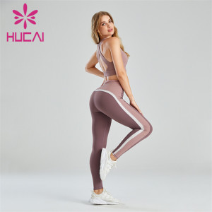 Solid Color Sports Bra And Three-color Leggings Customization