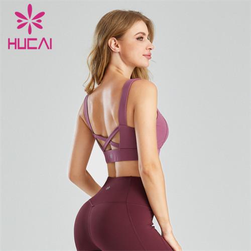 Wholesale Custom Sexy Ladies Halter Cross Sports Fitness Bra
