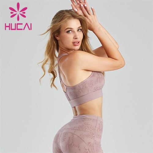 Customized Printed Design Gym Fashion Sports Bra