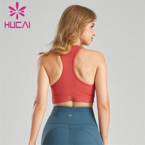 Shock Gather Yoga Sports Bra Custom Wholesale