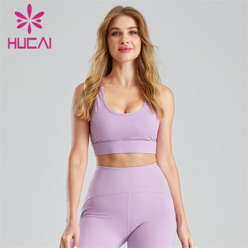 Customized Stitching Hollow Running Fitness Sports Bra