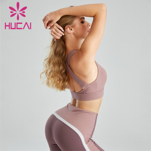 Pure Color Gather Fitness Sports Bra Wholesale