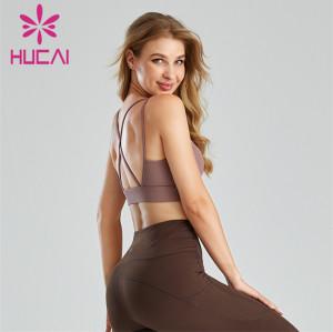 Sexy Round Neck Hollow Sports Bra Customization