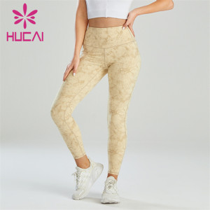 Customized Wholesale Fashion Digital Printed High Waist Leggings