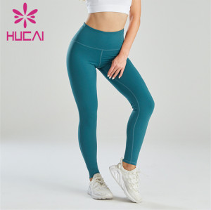 Wholesale Blue Slim-fitting Abdomen And Hip Leggings