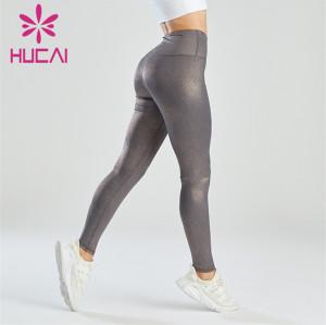 Fashion Sexy Hot Stamping Process Leggings Manufacturer
