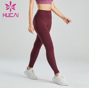 Crimson High Waist Slim Hips Yoga Pants Wholesale
