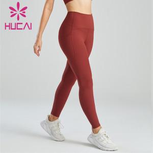 Pocket Design High Waist Hip Leggings Custom Wholesale