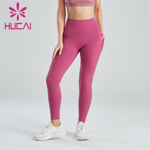 Pink High Waist Running Fitness Leggings Custom Wholesale