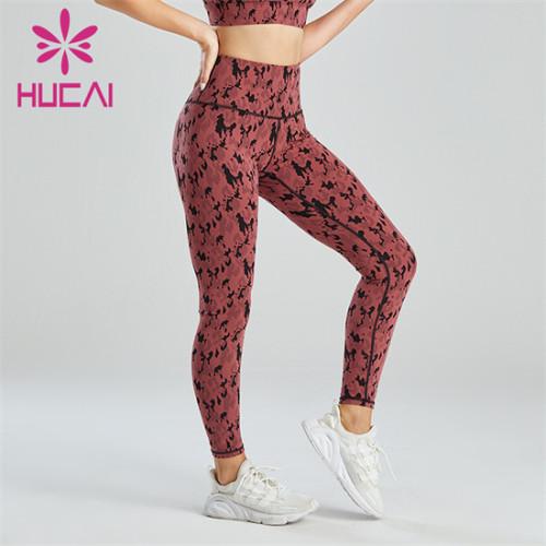 Fashion Camouflage Jacquard High Waist Leggings Customization