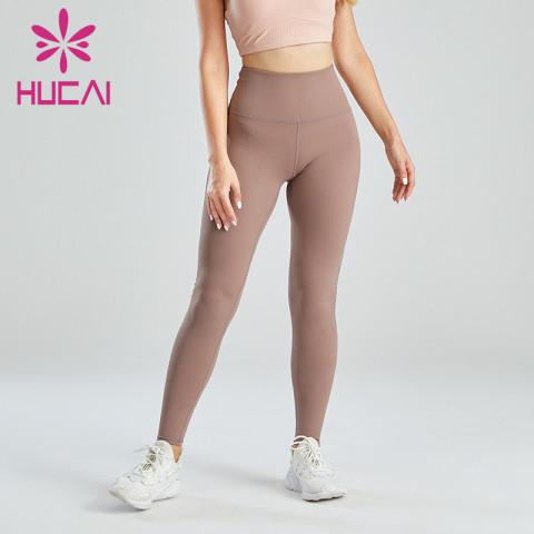 Wholesale Supply Of Brown Hip-lifting Slim Leggings