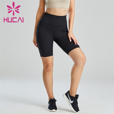Black Simple Sports Running Cycling Shorts Wholesale