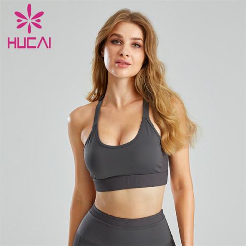 Sexy U-neck Shockproof Running Sports Bra Wholesale