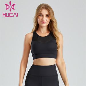 Fashion Front And Back Mesh Design Sports Bra Customization
