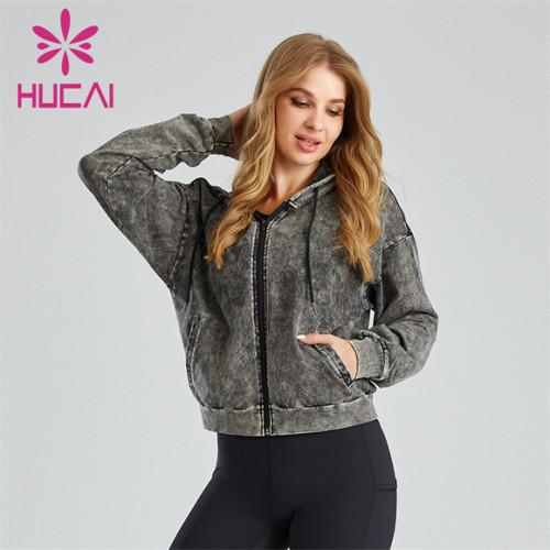 Fashion Ladies Zipper Jacket Wholesale Customization