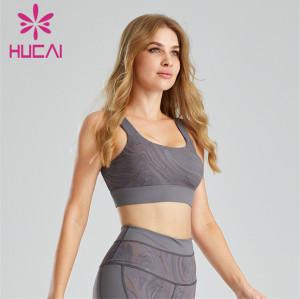 Fashion Printing Shockproof Fitness Sports Bra Customization