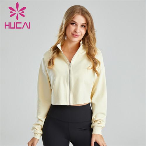 Women's Short Zipper Sports Jacket Wholesale