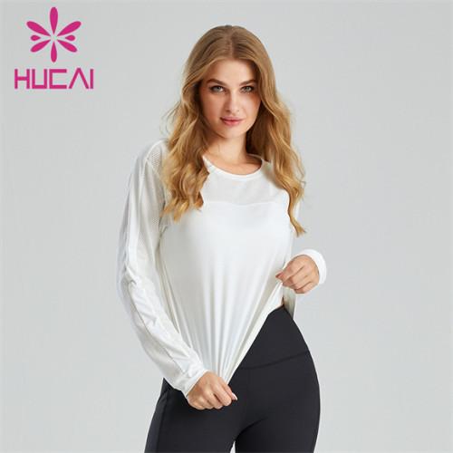 Women's Pure White Long Sleeve Sweatshirt Wholesale