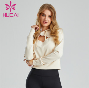 Ladies Front Hollow Hooded Hoodie Wholesale Customization
