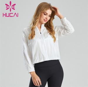 Wholesale Women's White Lightweight Sports Jacket