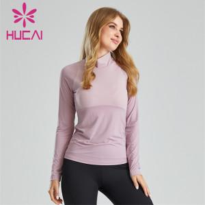 Up And Down Stitching Design Turtleneck Sweatshirt Wholesale