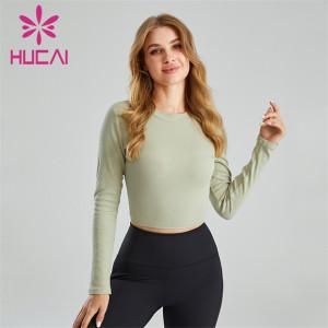 Ladies Long Sleeve Open Back Skinny Sweatshirt Wholesale