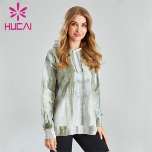 Ladies Fashion Tie Dye Hoodie Custom Supplier