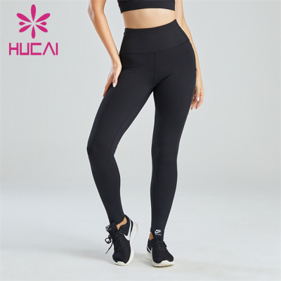 Pure Black Beautiful Buttocks Belly Fitness Leggings Wholesale