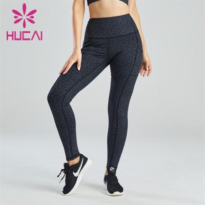Digital Printing With Pocket Design Ladies Leggings Customization