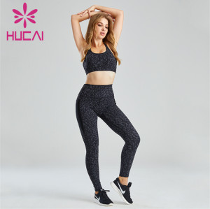 Fashion Printed Sports Bra And Leggings Suit Customization